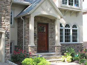 Stunning entrance by home builders in Ridgewood, NJ