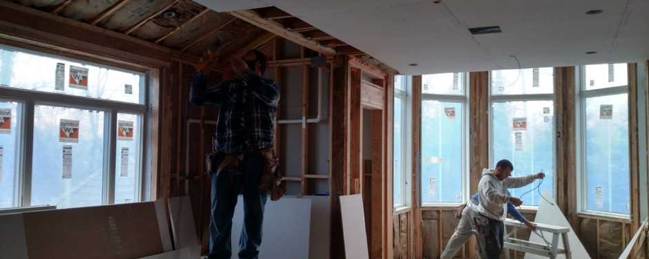 Inside picture of home under construction by home remodelers in Kinnelon, NJ