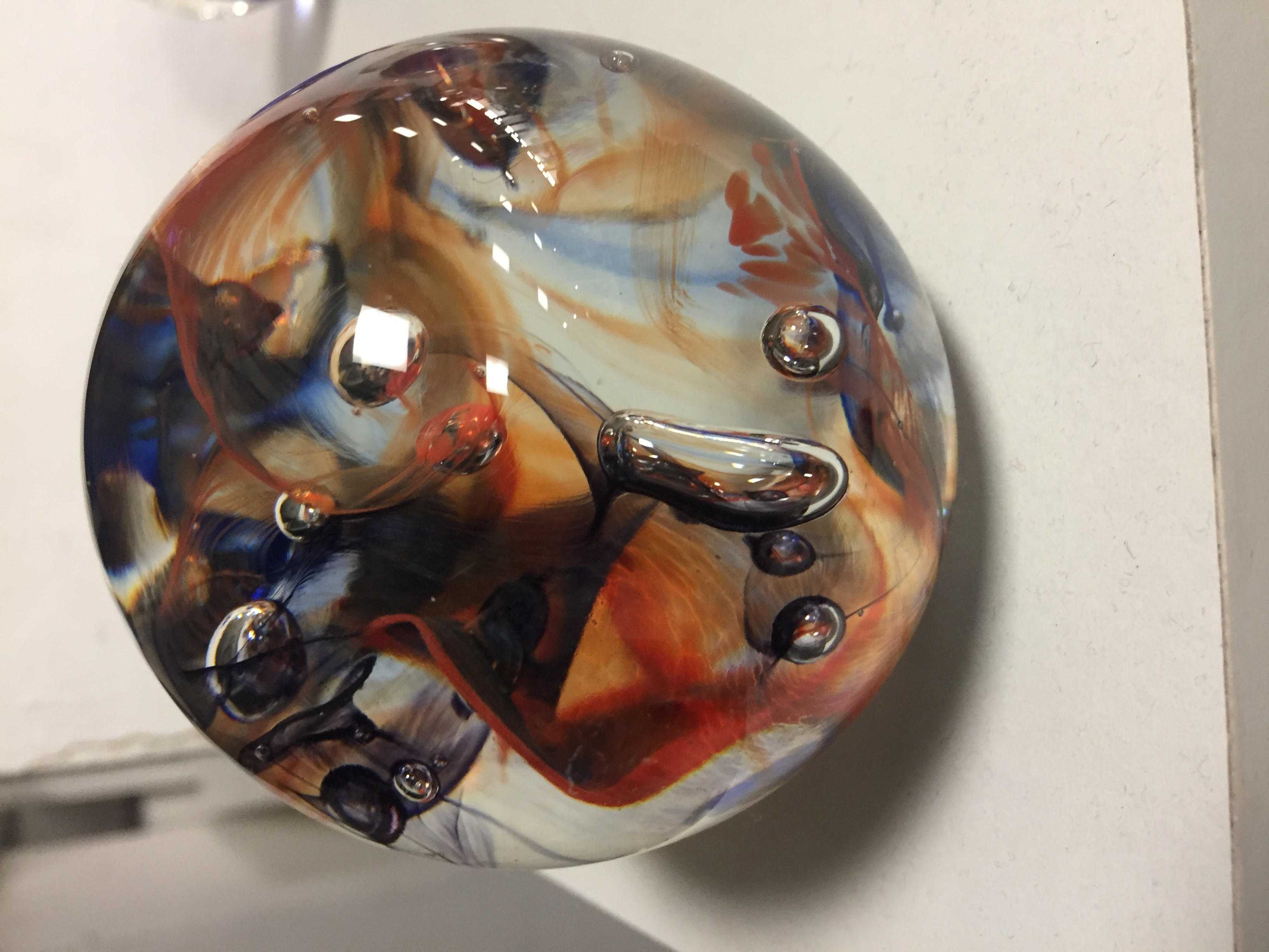 Paper Weight Made from Hot Glass