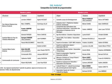 Composition du Comité de programmation