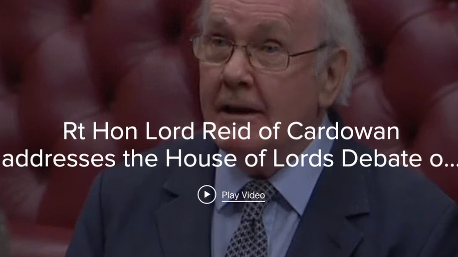 Lord Reid calls for a Trustable Process for AI Software