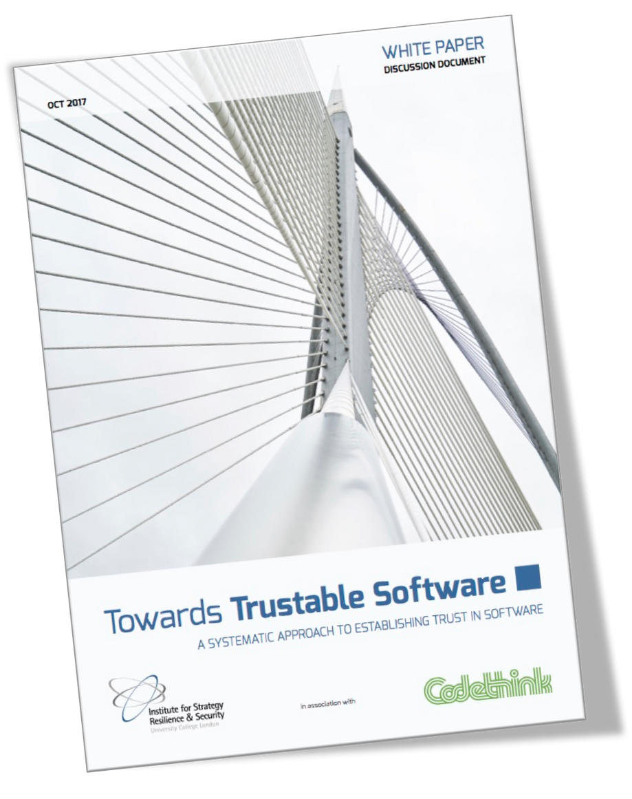 """Towards Trustable Software"" - ISRS and Codethink publish a white paper addressing the risks of futu"