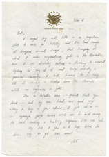 Last letter to Sudie