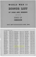 Honorlist State of Oregon