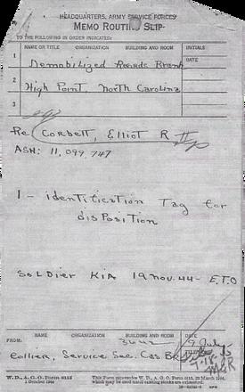 Identification tag for dispositio