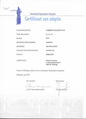 Adoption Certificate Margraten