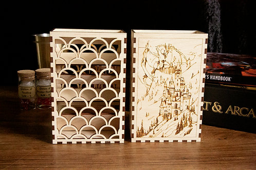 Scale pattern Laser Cut Dice Tower for D&D/Tabletop Games