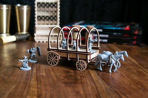Dungeons and Dragons Wagon with Horses