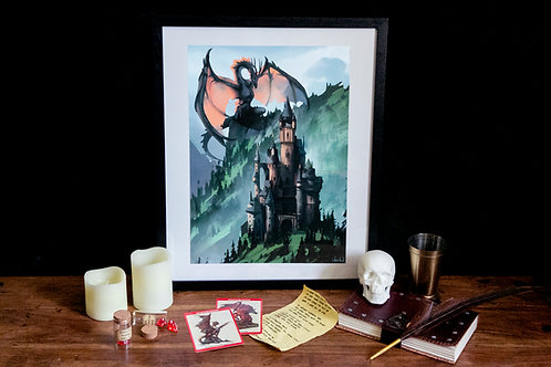 Dungeons and dragons - Landscape Art Print A3