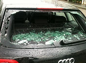 Heated rear window rear screen smashed rear hotline tinted