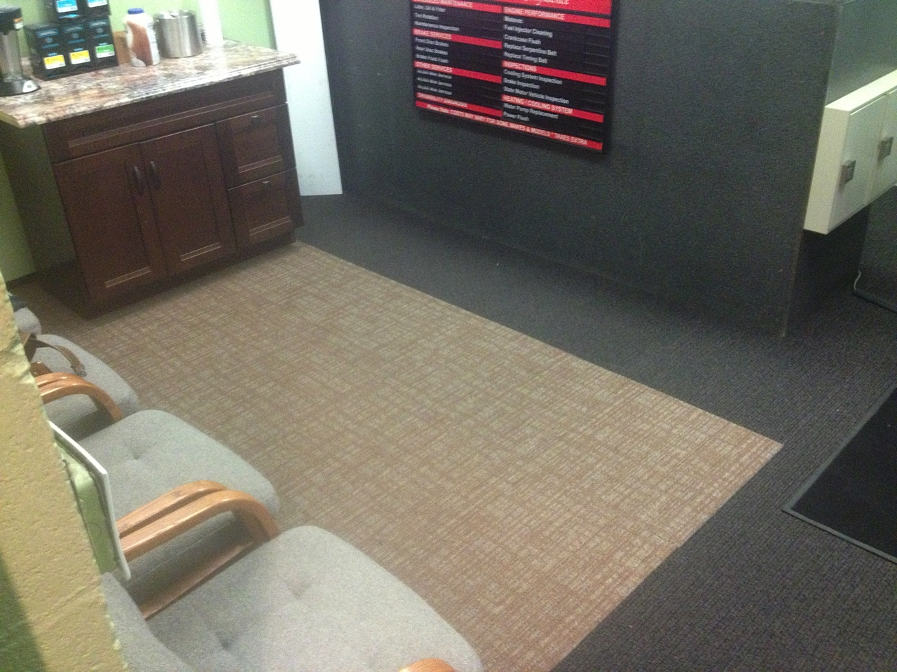 Shaw Carpet Tile - Oceanside Auto, Old Saybrook