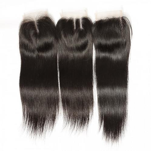 Straight Human Virgin Hair Laced Closure  4*4