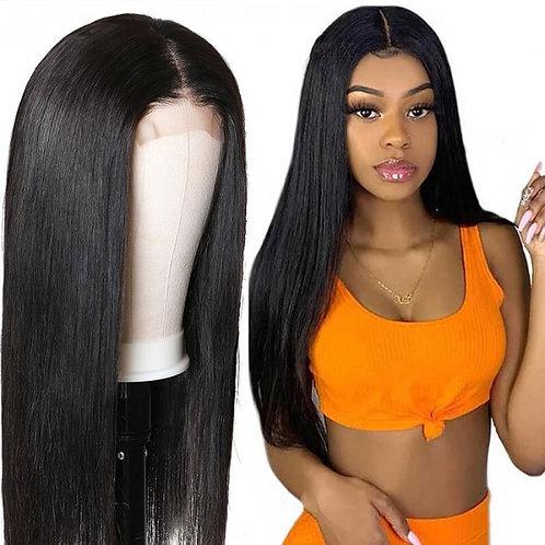 "Straight Virgin Human Hair Lace Closure Wig 14"""