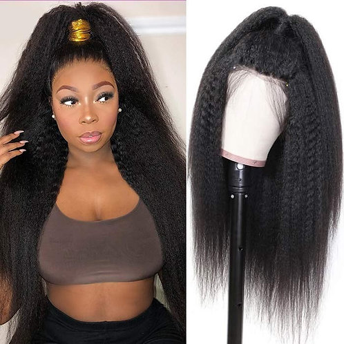 Popular Lace Frontal  Wig Kinky Straight 16""