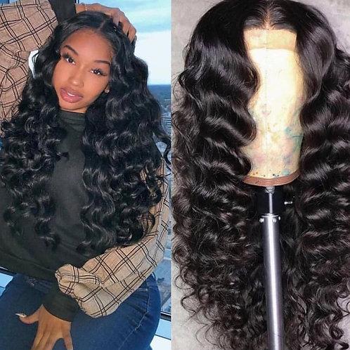 "Brazilian Loose Deep Wave Lace Frontal  Wig 14"""