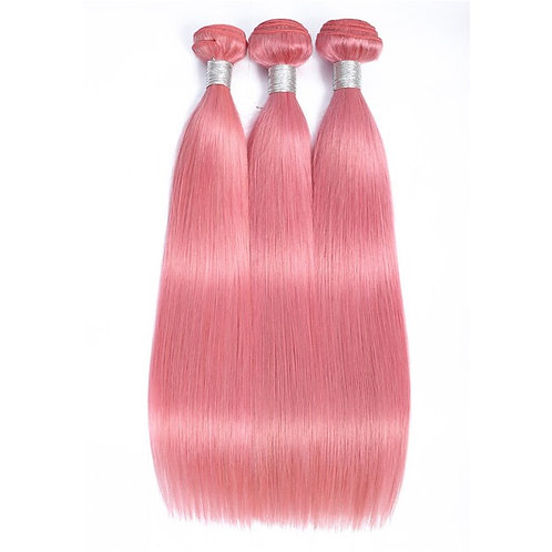 Pink Straight Hair Bundles