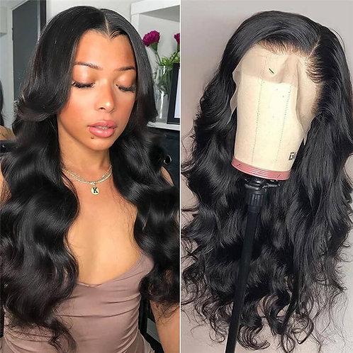 "Transparent Lace Closure Wig Body Wave 16"""