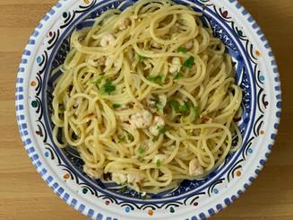 Spaghetti al Limone e Gamberi