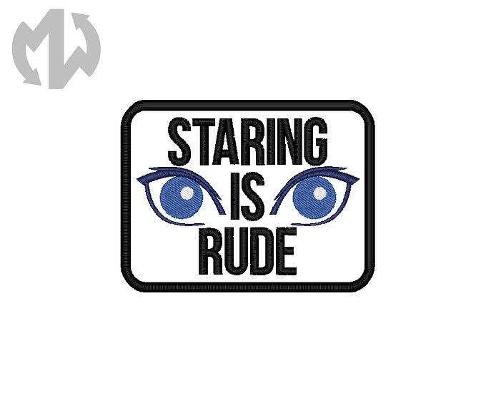 Staring is Rude