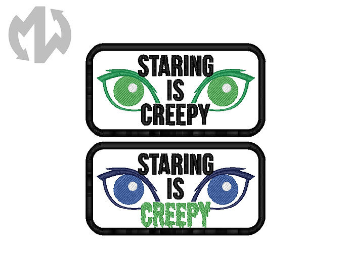 Staring is Creepy