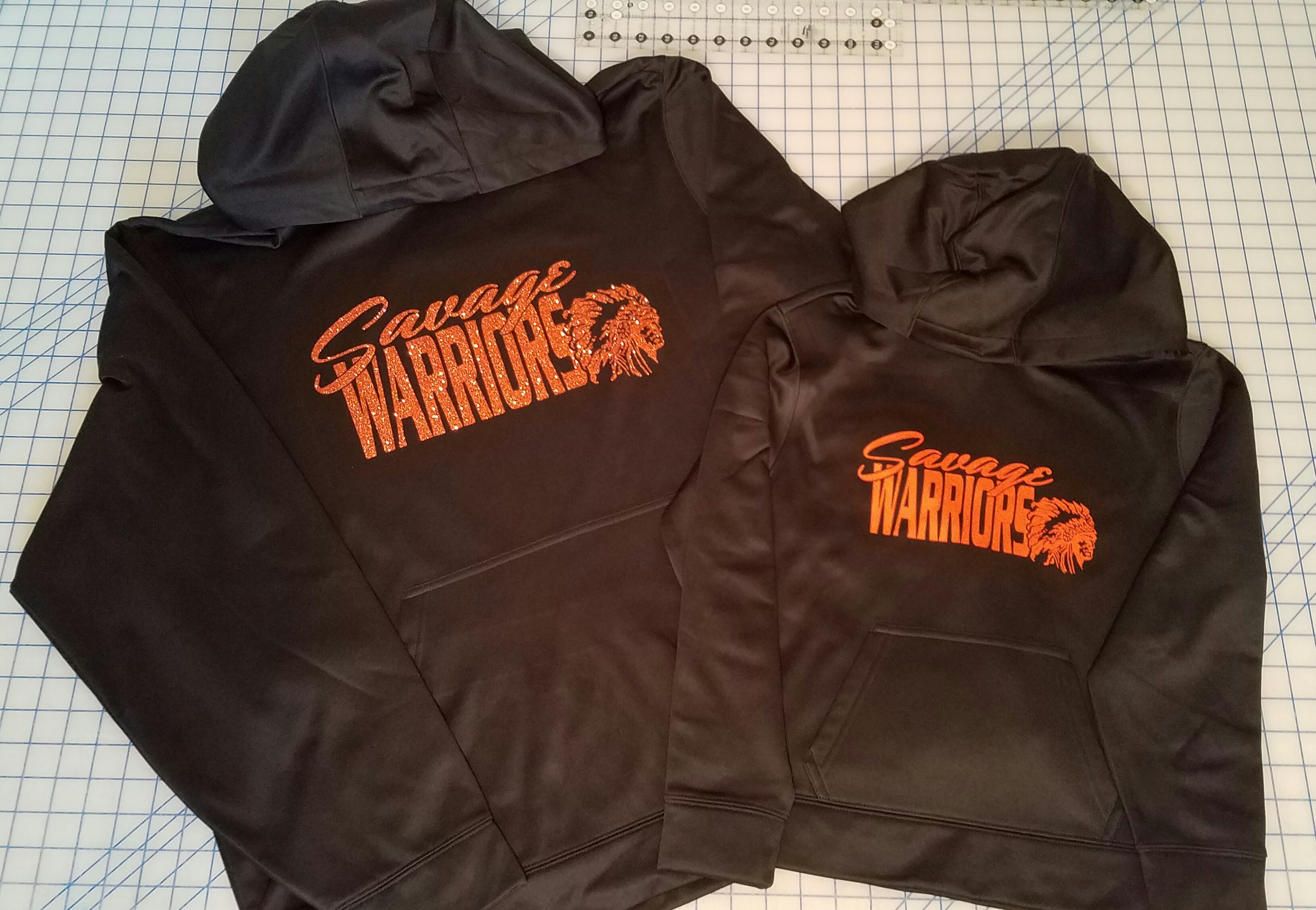 Designed Team Graphic on Hoodie