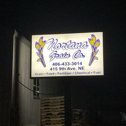 Illuminated Business Sign
