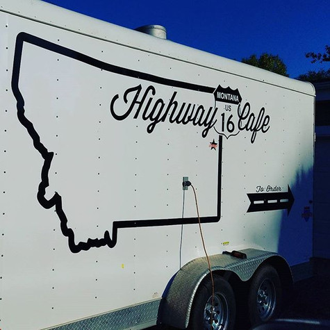 Trailer Decals for Highway 16 Cafe