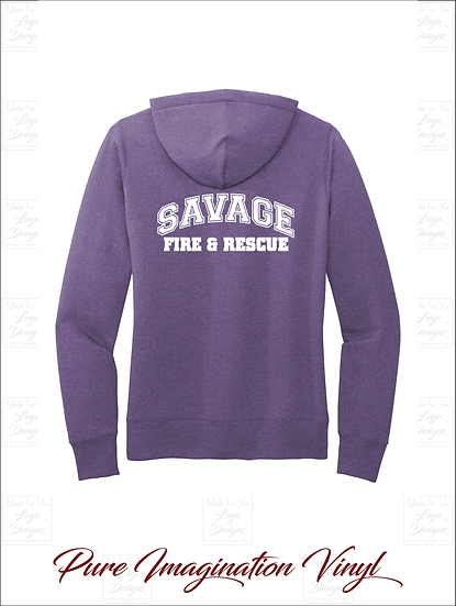 Savage Volunteer Fire Dept. Ladies Hoodies 2020