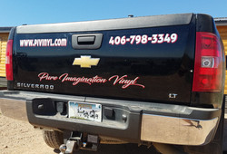 PIV Work Truck Tailgate Decals