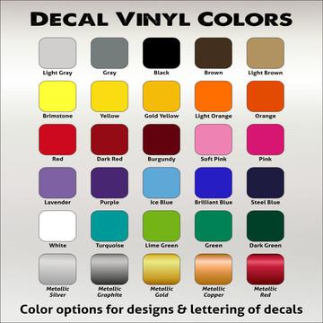 Decal Vinyl Color Chart