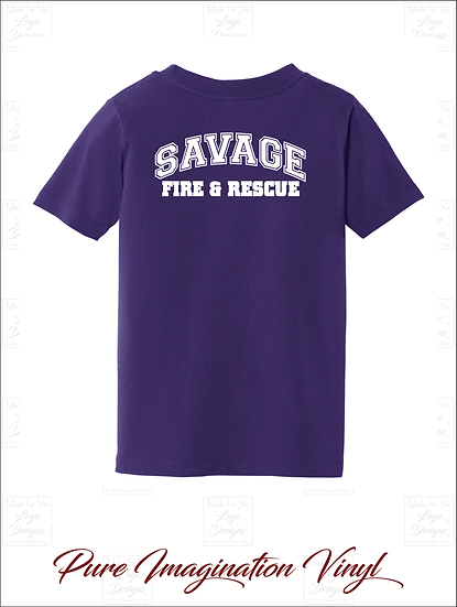 Savage Fire Dept. Toddler T-Shirts 2020