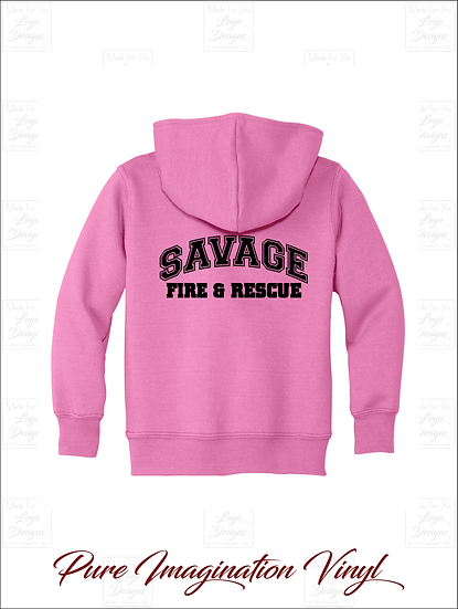 Savage Volunteer Fire Dept. Toddler Hoodies 2020