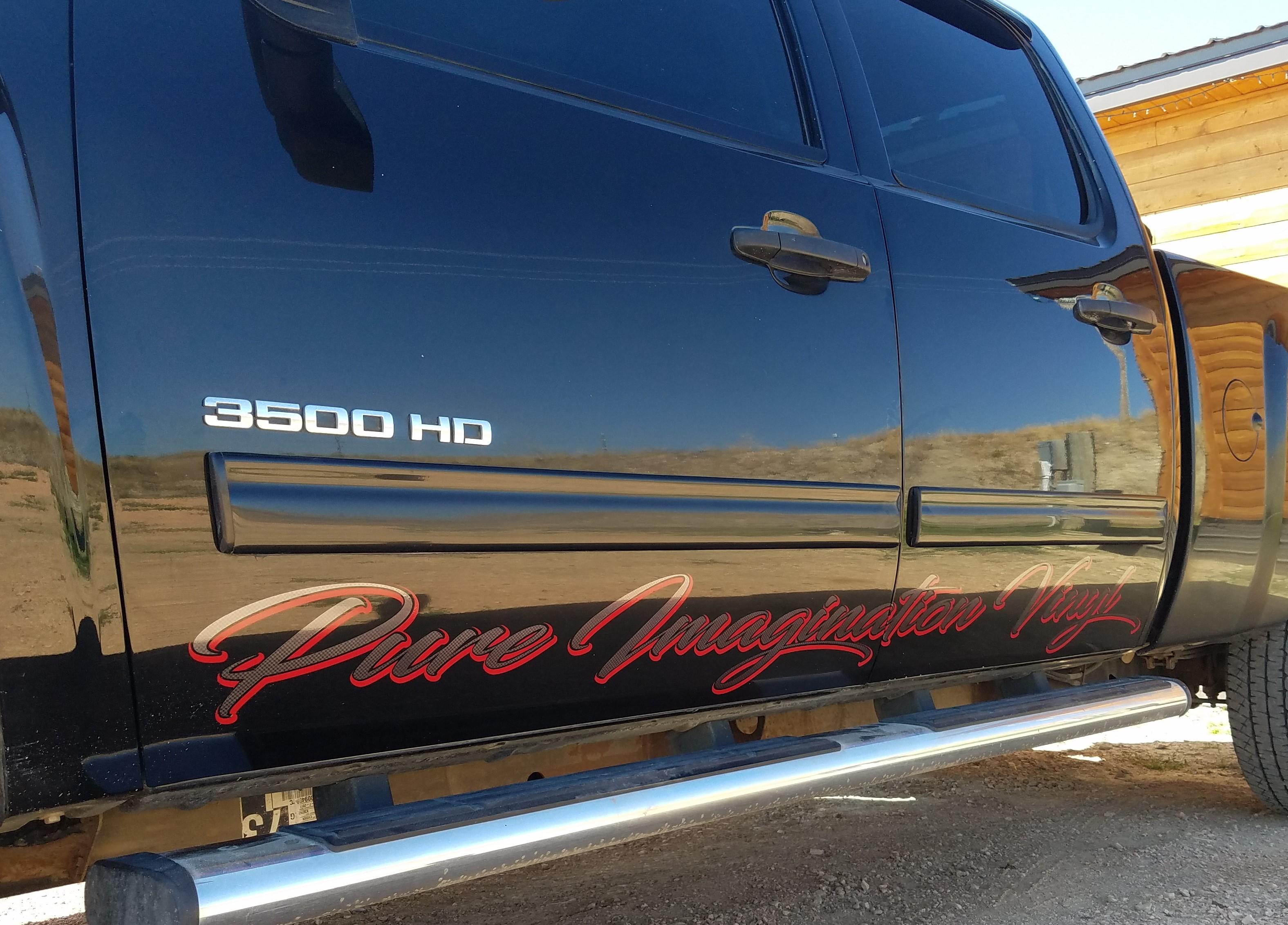 PIV Work Truck Rocker Decals