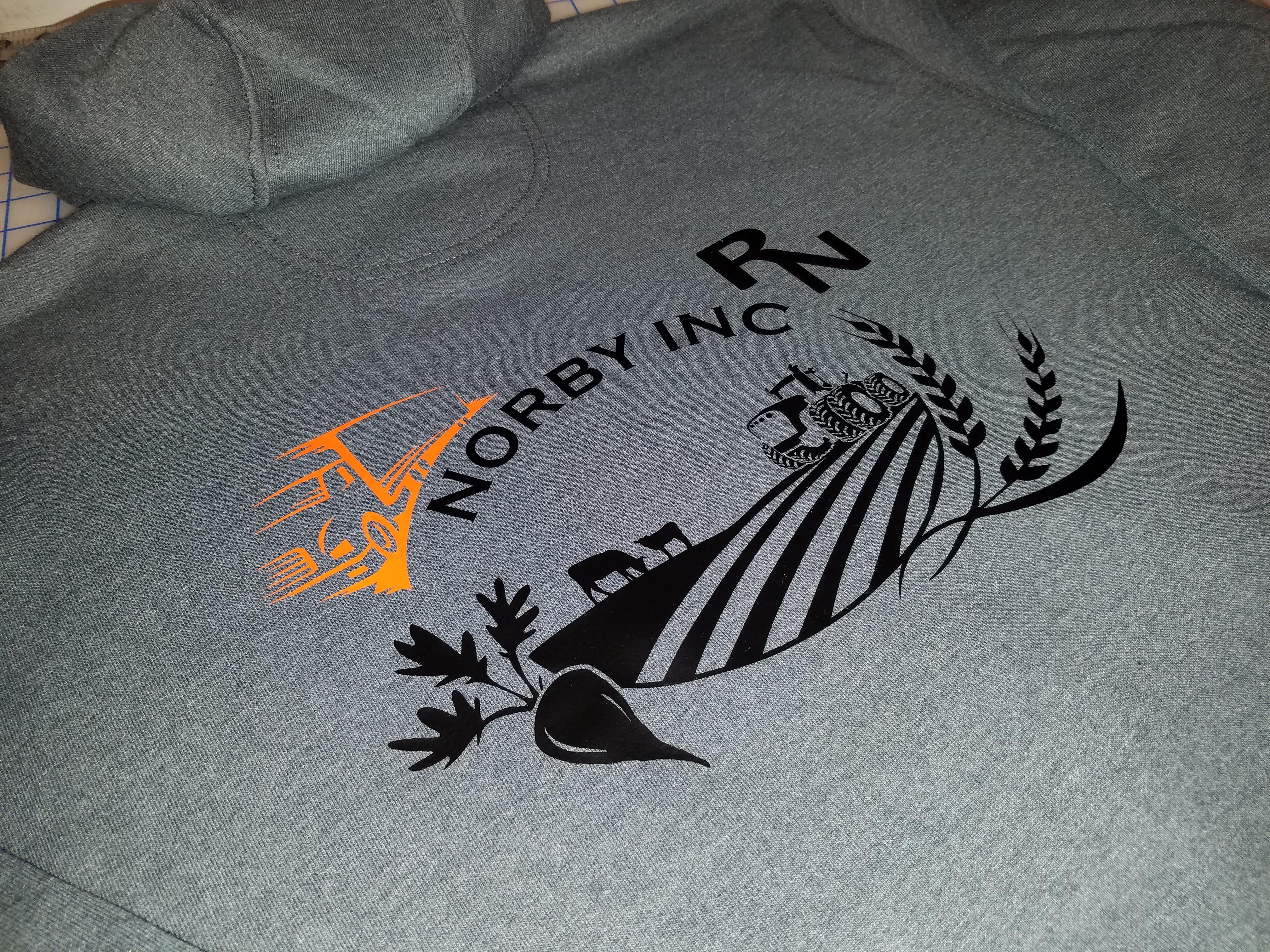 Designed Logo On Hoodie