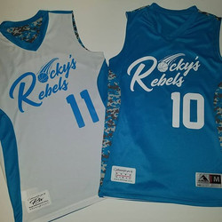 Rocky's Rebels Basketball Jerseys