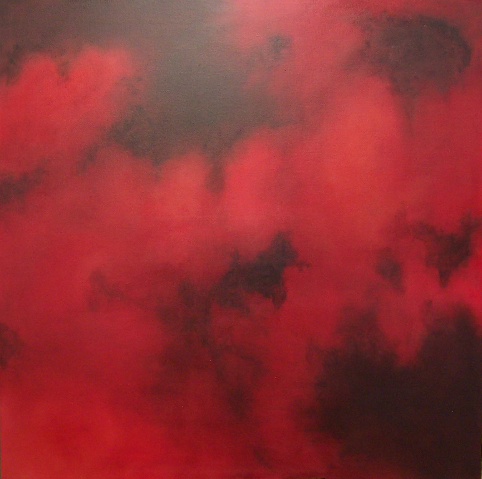 Red into Black 120x120cm Oil on Linen 2008