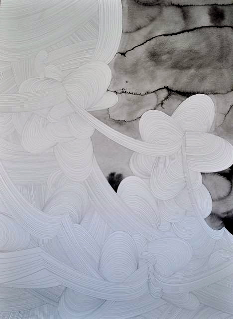 Swirl A100x70cm unframed Ink and Pencil on Paper 2009