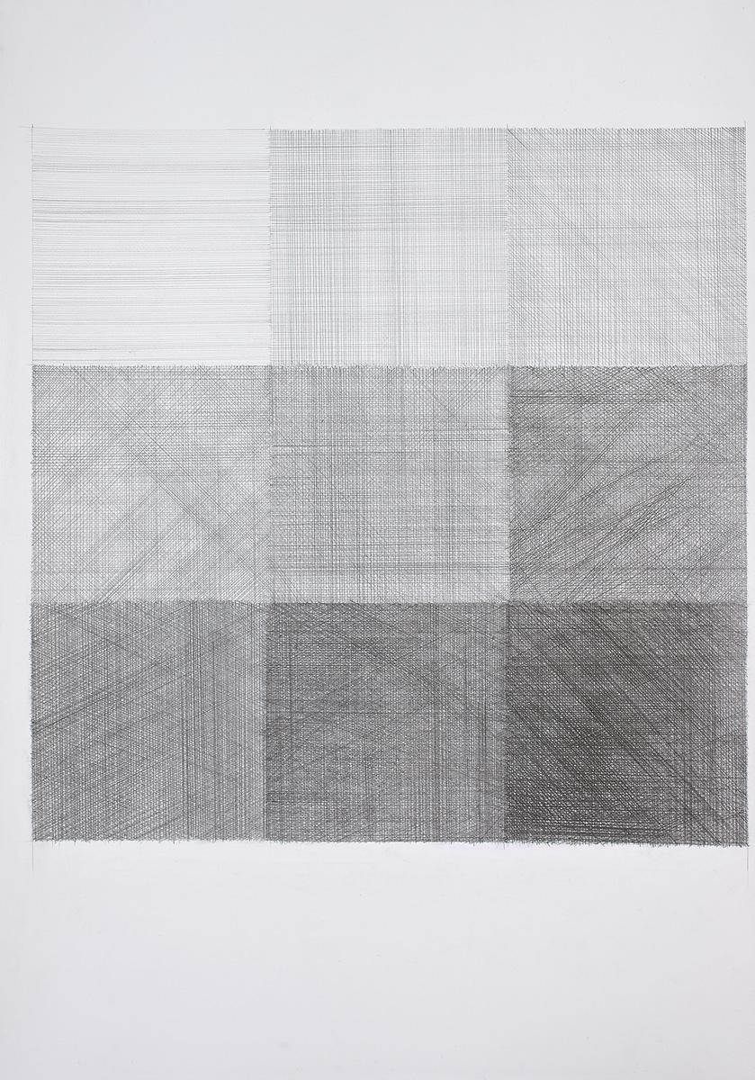 Nine Tones 100x70 unframed Graphite on Paper 2008