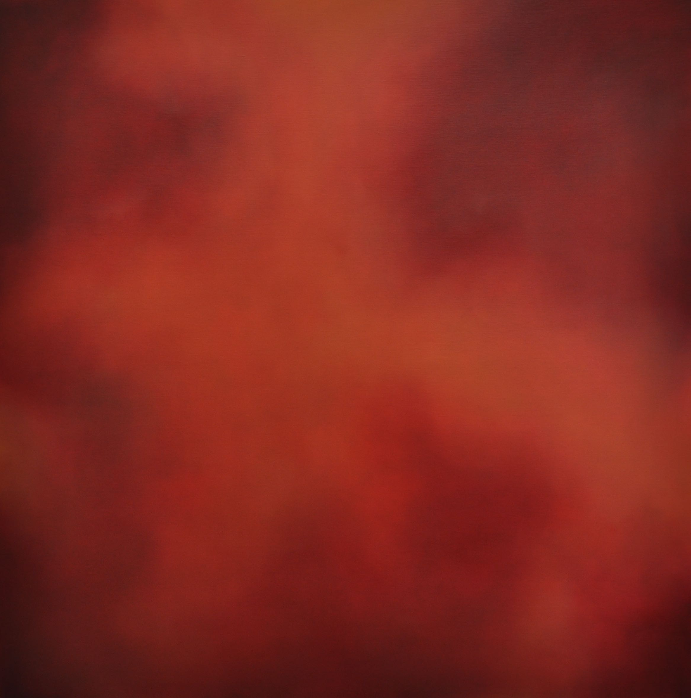 Red into Orange 120x120cm Oil on Linen 2008