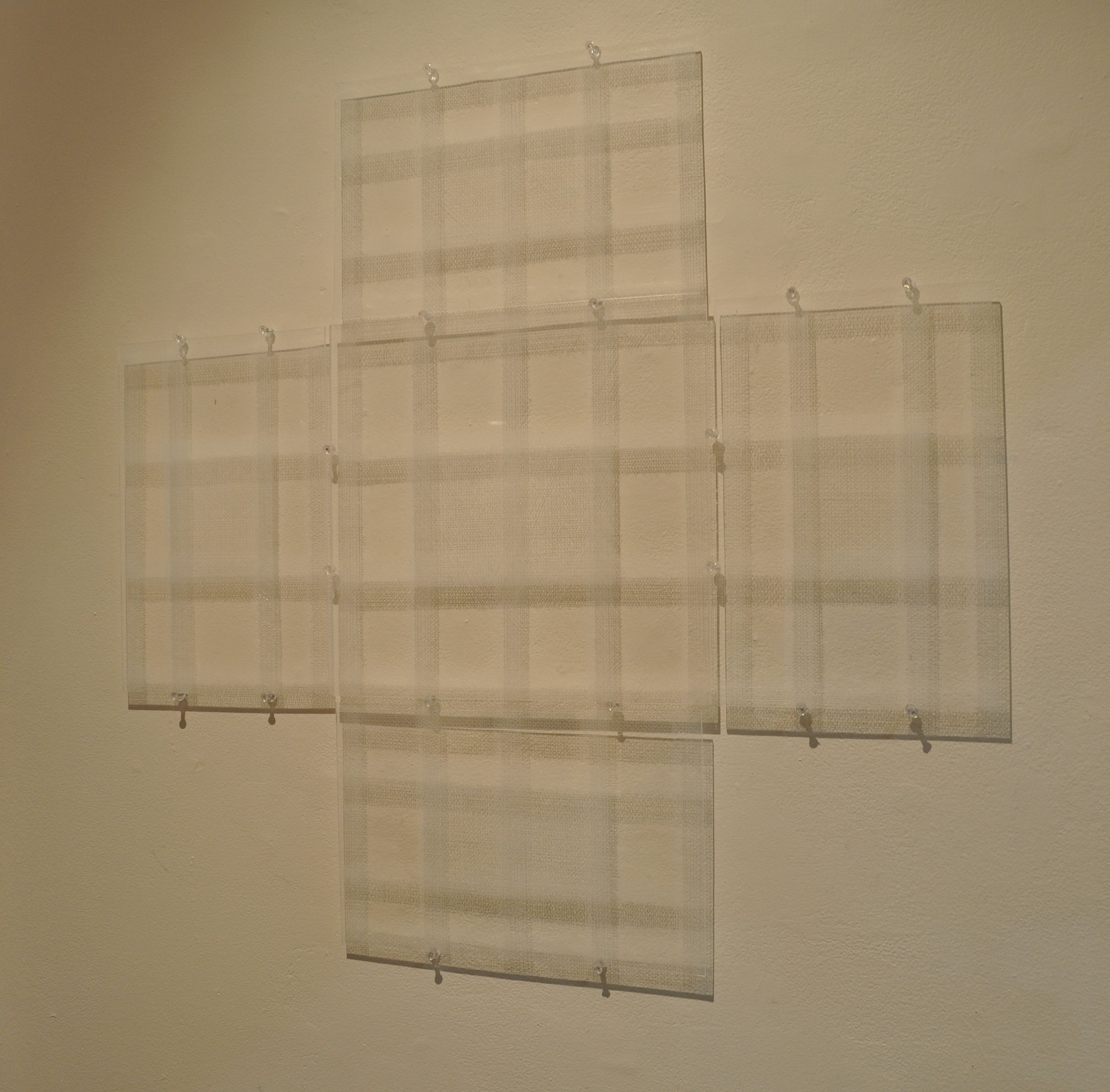 Big Cross 74x74cm Perspex and Drawing Pins 2009