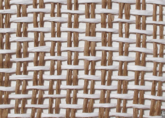white and tan loose weave