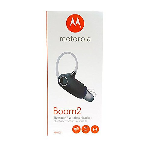 "Motorola Boom 2 Wireless Bluetooth Headset MH003 - ""Dual-Mic Noise Cancellation"""