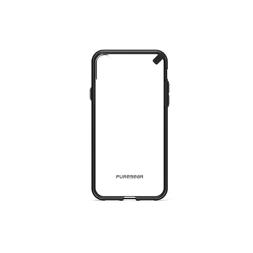 PureGear Slim Shell Case for Apple iPhone X (Clear/Black)