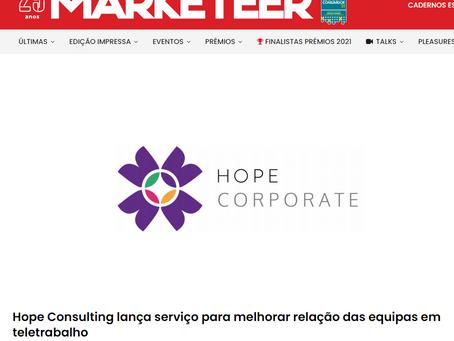 Marketeer: Hope Consulting lança serviço para melhorar relação das equipas em teletrabalho