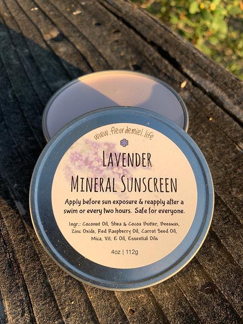 Lavender Mineral Sunscreen