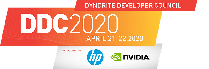 Dyndrite Developer Council 2020. Sponsored by HP and NVIDIA.