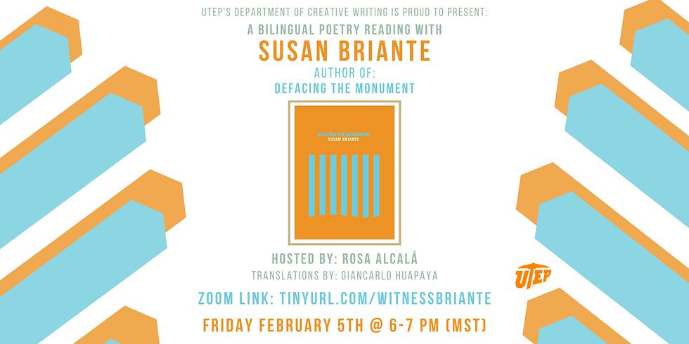 Susan Briante: a Reading & Conversation
