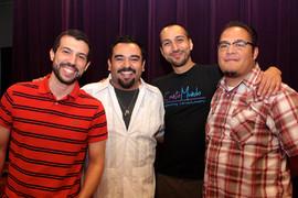 (L to R) Michael Luis Dauro, Juan Luis Guzmán, Jacob Saenz, Ángel García