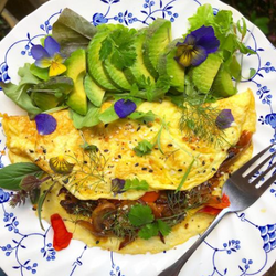 Gilberties herb omelete