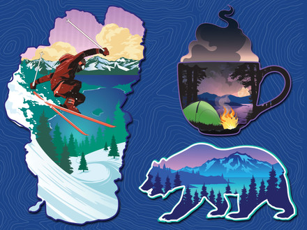 Tahoe Mountain Sports Stickers